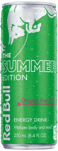 Red Bull Summer Edition Dragon Fruit Energy Drink Perspective: front