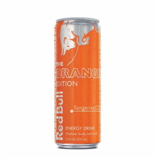 Red Bull The Orange Edition Tangerine Energy Drink Perspective: front