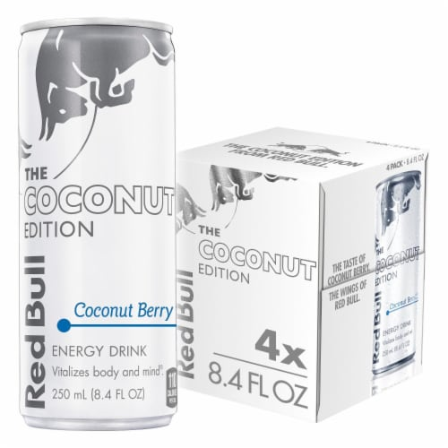Red Bull Coconut Edition Coconut Berry Energy Drink Perspective: front