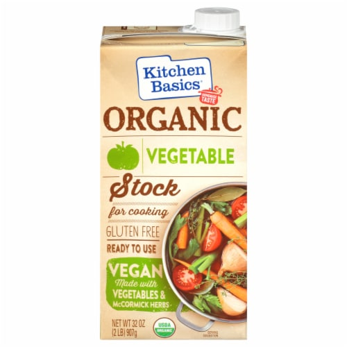 Kitchen Basics Organic Vegetable Stock Perspective: front