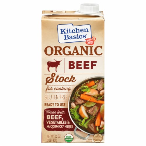 Kitchen Basics Organic Beef Stock Perspective: front