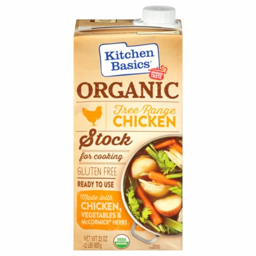 Kitchen Basics Organic Free Range Chicken Stock Perspective: front