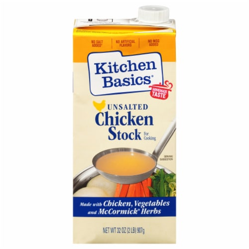 Kitchen Basics® Unsalted Chicken Stock Perspective: front