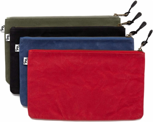 Precision Defined Heavy Duty Waxed Canvas Tool Bags with Zipper (4 Pack) Perspective: front