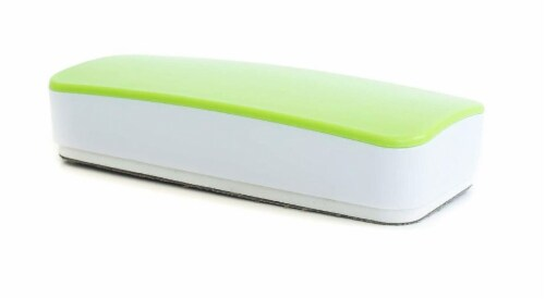 WallDeca Magnetic Premium Dry Eraser, Felt Bottom Surface, Made for White Boards (Green) Perspective: front