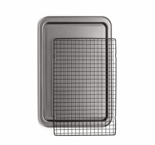 Chef Pomodoro Non-Stick Baking Tray and Cooling Tray Set, 2-Piece Perspective: front