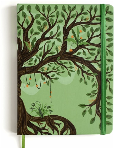 Rileys Tree of Life Journal Notebook, 8  x 6 , Unlined 120 Pages, Ivory Paper Perspective: front