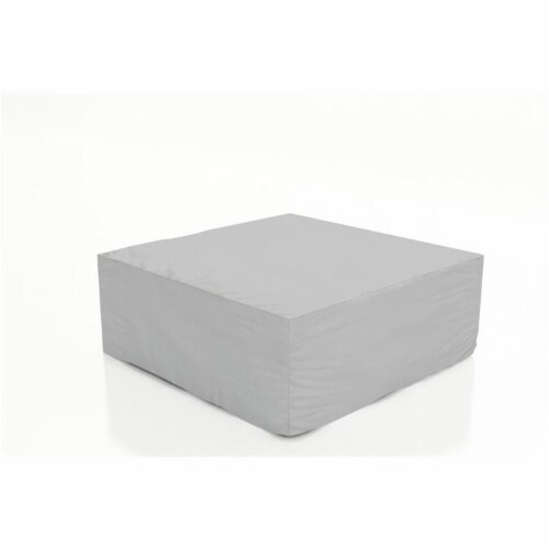 Harmonia Living Patio Coffee Table Cover in Clay Perspective: front
