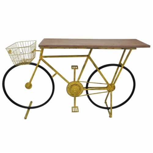 Bicycle Console Table,Yellow Perspective: front