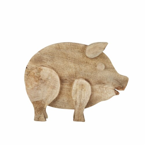 Mango Wood 18  Pig, Brown Perspective: front