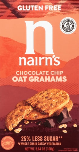 Nairn's  Gluten Free Oat Grahams   Chocolate Chip Perspective: front