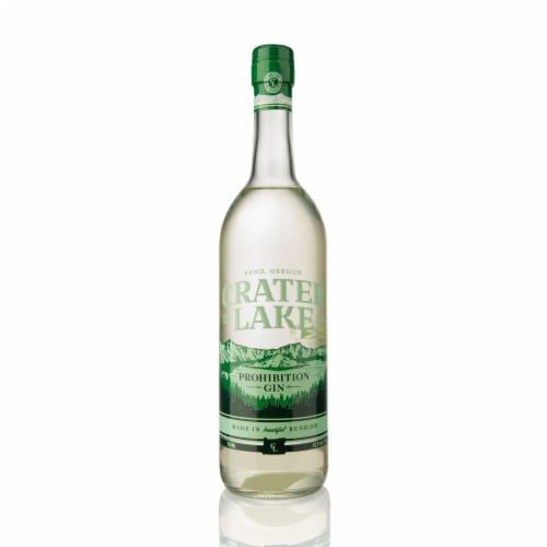 Crater Lake Spirits Prohibition Gin Perspective: front