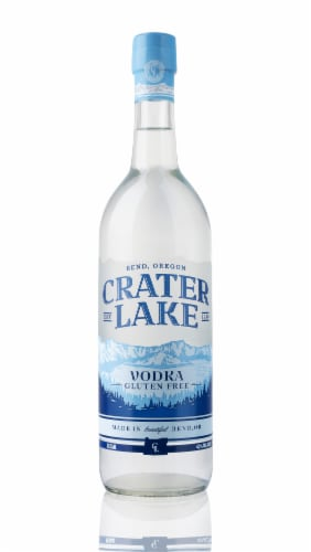 Crater Lake Hand Crafted Vodka Perspective: front