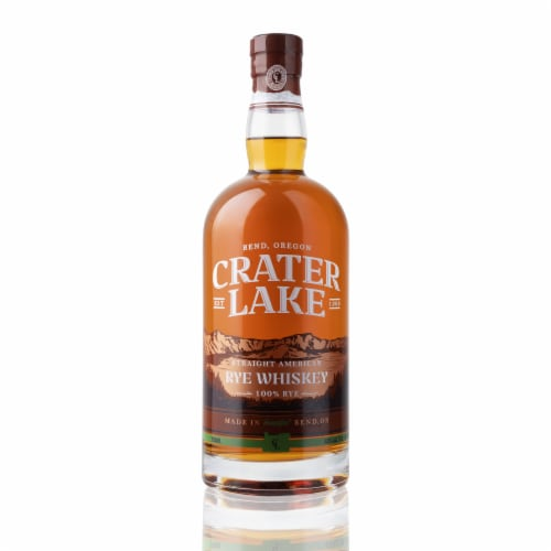 Crater Lake Spirits Straight American Rye Whiskey Perspective: front