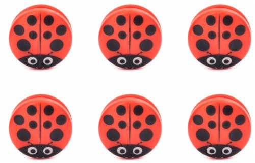 Kikkerland Design Ladybug Bag Clip - Red/Black Perspective: front