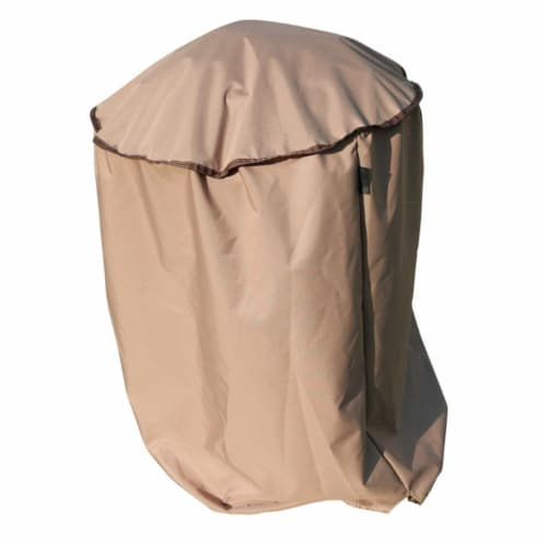 Jewett Cameron CG0270038TN True Shade Plus Kettle Style BBQ Grill Cover - Large Perspective: front