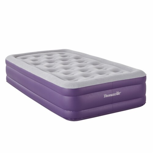 Thomasville Sensation Express Air Raised Inflatable Mattress w/ Air Pump, Twin Perspective: front