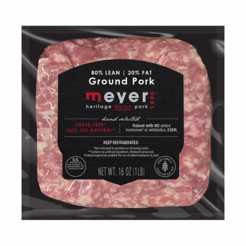 Meyer 80% Lean Ground Pork Perspective: front