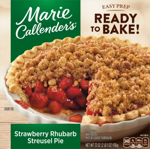 Marie Callender's Strawberry Rhubarb Streusel Pie Perspective: front