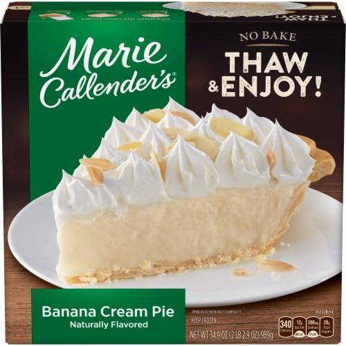 Marie Callender's Banana Cream Pie Frozen Dessert Perspective: front