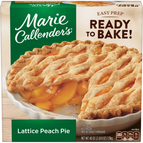 Marie Callender's Lattice Peach Pie Perspective: front