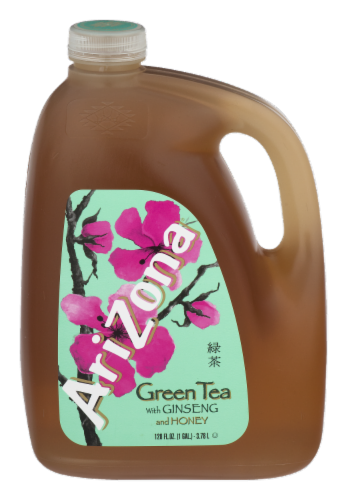 AriZona Ginseng and Honey Green Tea Perspective: front