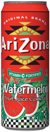 AriZona Watermelon Fruit Juice Cocktail Perspective: front