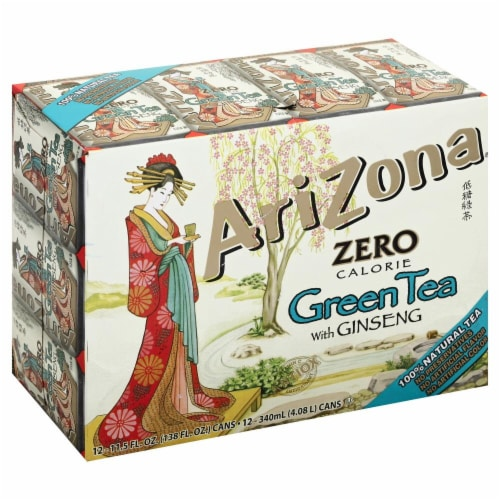 AriZona Diet Green Tea with Ginseng Perspective: front