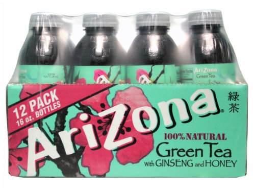 AriZona Natural Green Tea Perspective: front