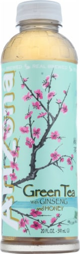 AriZona Green Tea with Ginseng and Honey Perspective: front