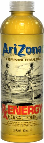 AriZona RX Energy Herbal Tonic Drink Perspective: front