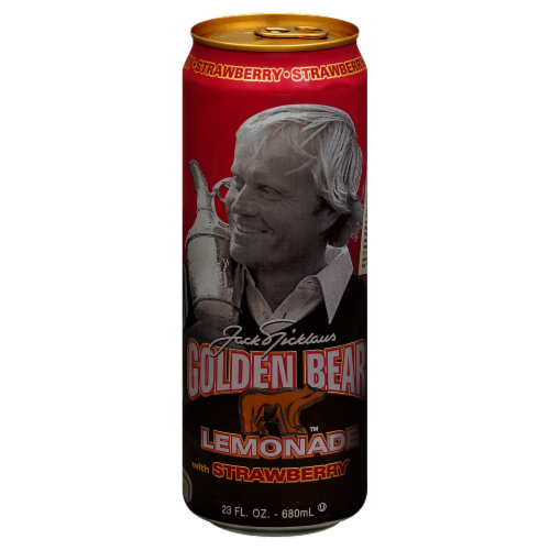 AriZona Jack Nicklaus Golden Bear Lemonade with Strawberry Perspective: front