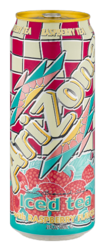 AriZona Iced Tea with Raspberry Flavor Perspective: front
