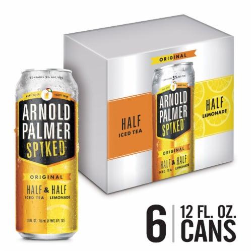 Arnold Palmer Spiked Half & Half Ice Tea Lemonade Flavored Malt Beverage Perspective: front