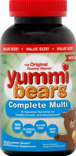 Yummi Bears Multi Vitamin & Mineral Perspective: front