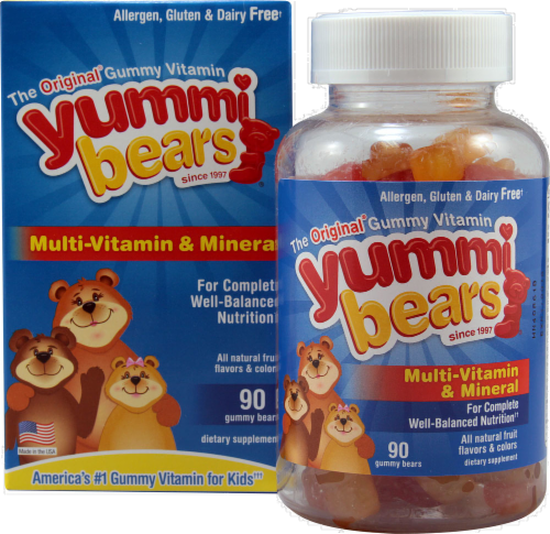 Yummi Bears Multi-Vitamin & Mineral Gummy Bears Perspective: front