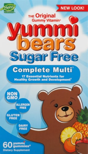 Yummi Bears Sugar Free Multi-Vitamin & Mineral Supplements Perspective: front