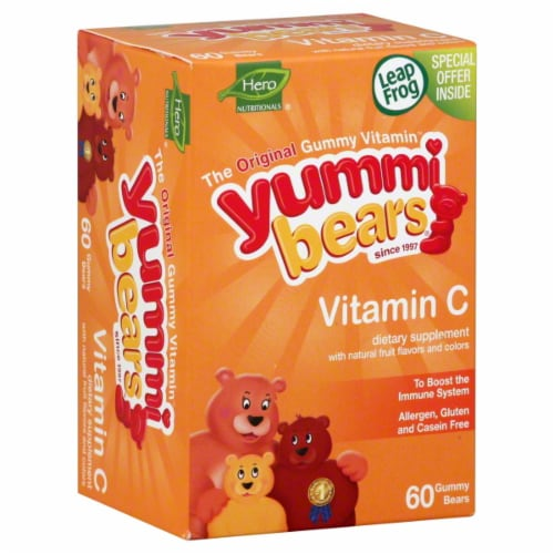 Hero Nutritionals Yummi Bears Vitamin C Perspective: front