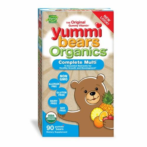 Hero Nutritionals Yummi Bears Organics Children's Multivitamin Gummies Perspective: front