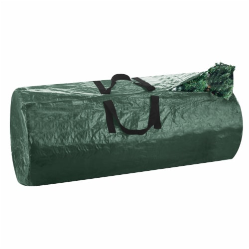 Christmas Tree Zipper Storage Bag Holds Fake Unassembled Trees up to 9 Ft High Perspective: front