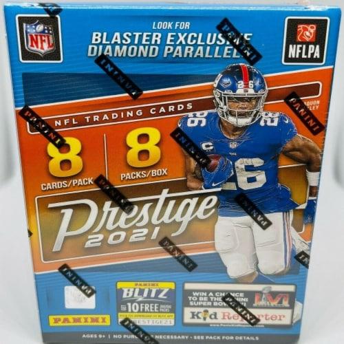2021 Panini Prestige Football Blaster Box Perspective: front