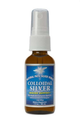 Natural Path Silver Wings  Colloidal Silver Herbal Tincture Spray Perspective: front
