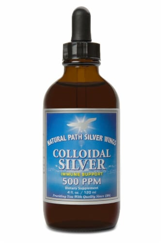 Natural Path Silver Wings  Colloidal Silver Perspective: front