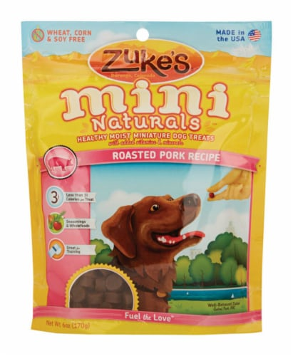 Zuke's All Natural Mini Roasted Pork Treats For Dog 7.75 in. 1 pk Perspective: front