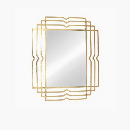 Metal 39  Rectangular Mirror,Gold Perspective: front