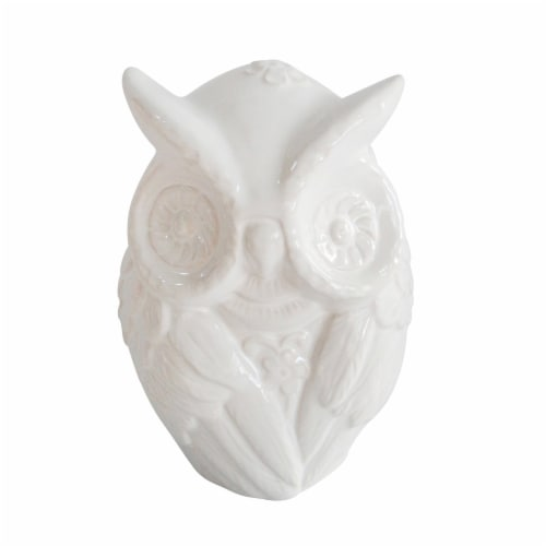 Cer,  9  Owl Figurine, White Perspective: front