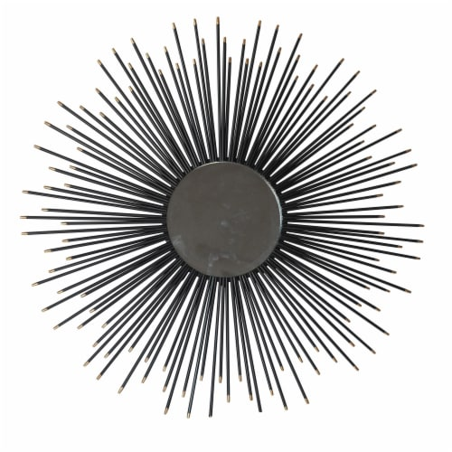 Metal 32  Mirror Wall Decor, Black Wb Perspective: front