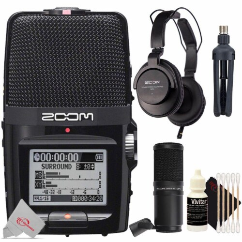 Zoom H2n Ext 2-input 4 Track Handy Digital Audio Recorder + Zdm-1 Mic Pack Perspective: front