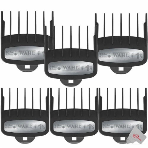 """Six Pieces Wahl Professional 1 1/2"""" Premium Cutting Guide 3354-1100 Perspective: front"""