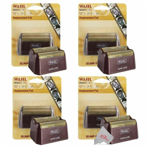 Four Pieces Wahl 5 Star Series Red Replacement Foil #7031-200 Perspective: front